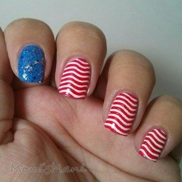 wavy flag nail art by Moni'sMani