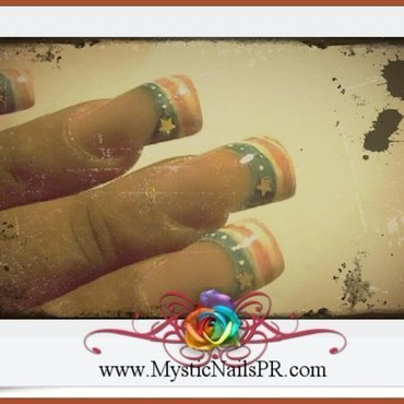 Vintage 4th of July ♥ by Jennifer Perez nail art by Jennifer Perez ♥ Mystic Nails