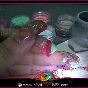 Abstract Acrylic ♥ by Jennifer Perez nail art by Jennifer Perez ♥ Mystic Nails