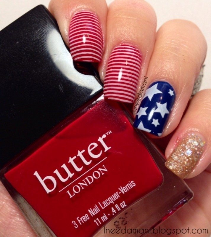 Red White And Blue Flag Nails Nail Art By Carmen Ineedamani