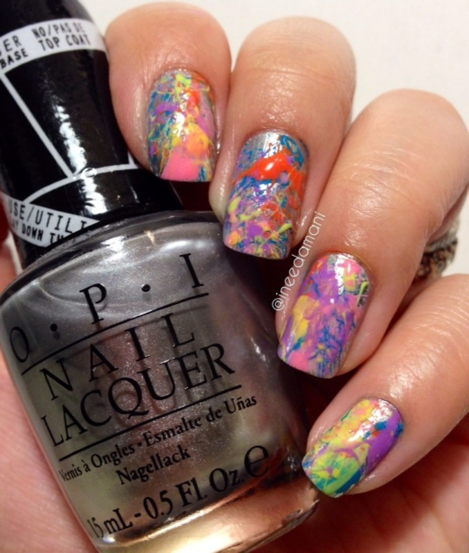 Paint Splatter Nails Nail Art By Carmen Ineedamani Nailpolis