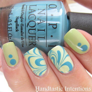 Spring Inspired Water Marble nail art by Andrea
