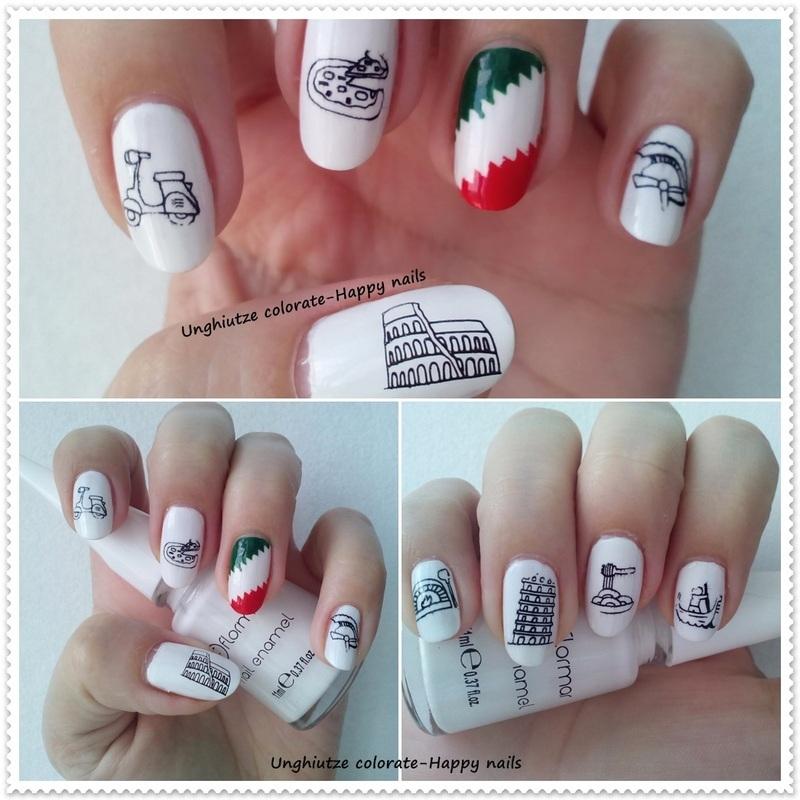 Italy nail art by Oana  Alexandru