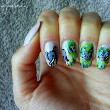 Elephant nail art by Magnails