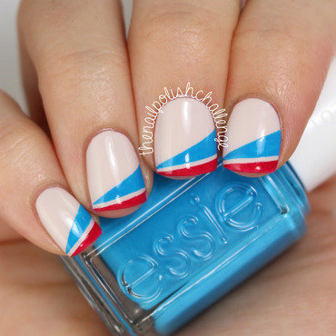 Essie Striping Tape Nail Art nail art by Kelli Dobrin