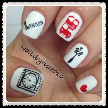 London nail art by Riece