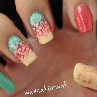 summer nail art nail art by Marianna Kovács