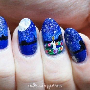 Midsummer Night nail art by ecattiem