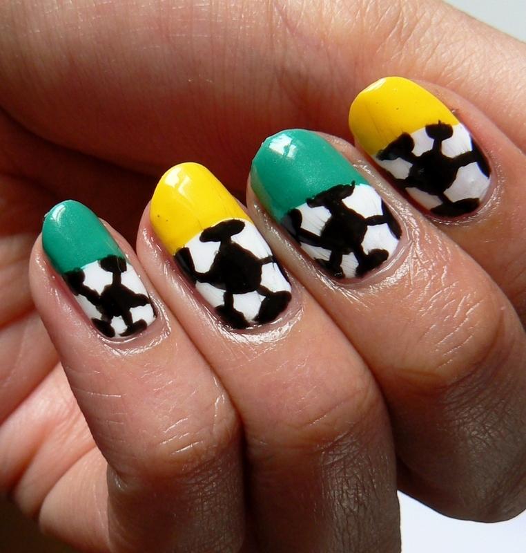 World Cup Nails! nail art by Aysha Baig