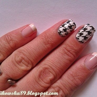 My French manicure  nail art by Anita