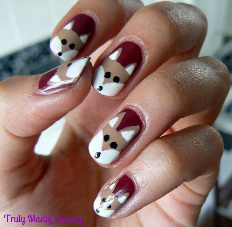 Foxy Nails! nail art by Aysha Baig - Nailpolis: Museum of Nail Art