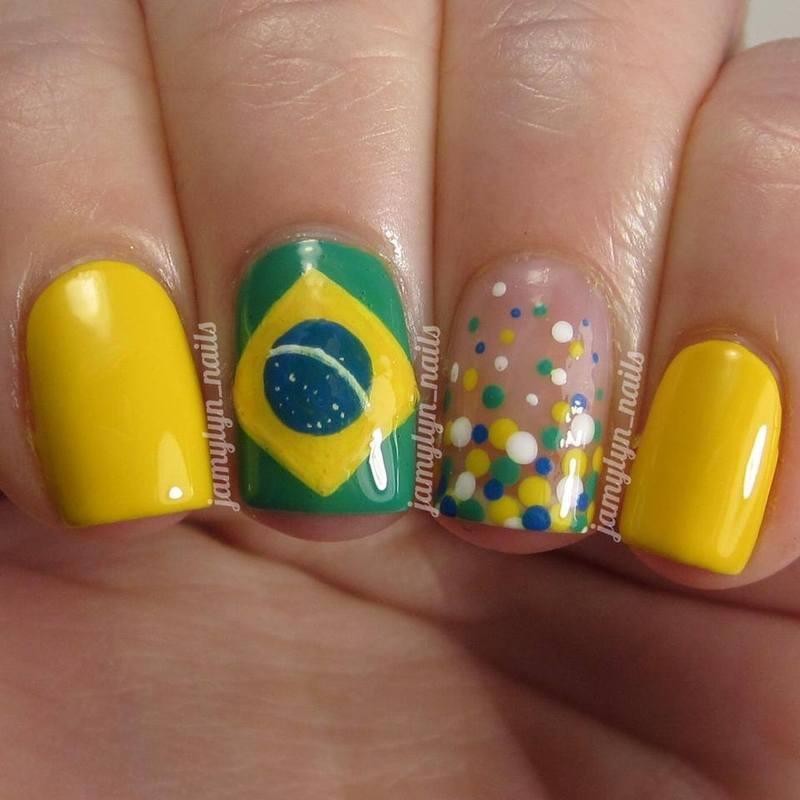 World Cup 2014 Brazil nail art by Jamy