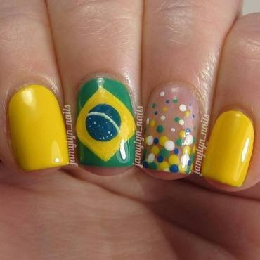 World Cup 2014 Brazil nail art by Jamy