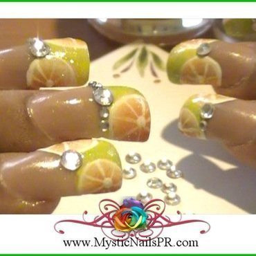Citrus Nail Art ♥ by Jennifer Perez nail art by Jennifer Perez ♥ Mystic Nails