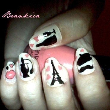 Paris nail art by Brankica