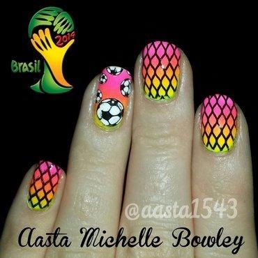 World Cup Nails  nail art by Aasta Bowley