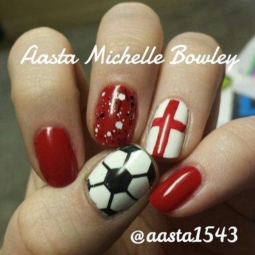 World Cup Nails .. England  nail art by Aasta Bowley