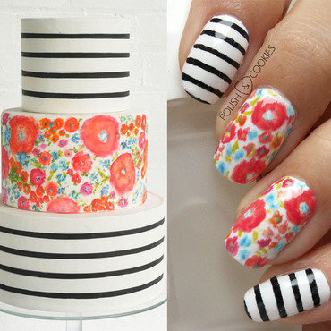 Inspired by a cake - part 05 nail art by PolishCookie