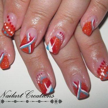 Worldcup Orange Dutch Nailart nail art by Nailart Creations