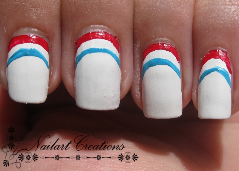 WorldCup Dutch Flag nail art by Nailart Creations