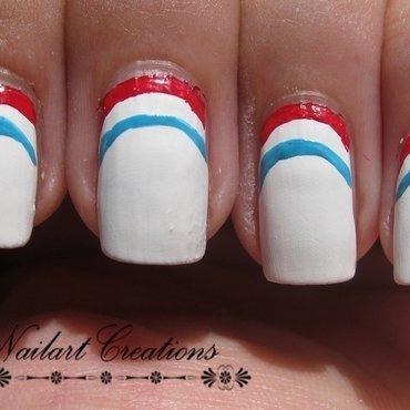 WorldCup Dutch Flag nail art by Nailart Creations