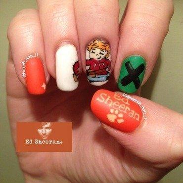 Ed Sheeran Manicure nail art by Hannah