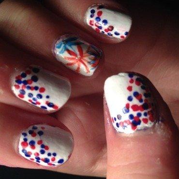 4th of July  nail art by Princesscourtney
