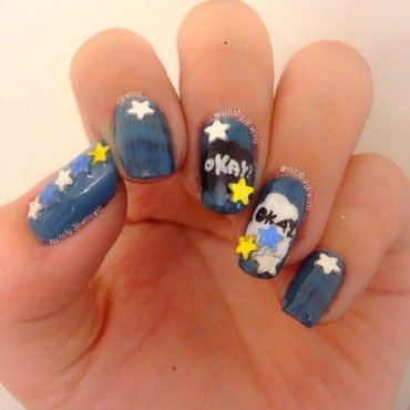 TFIOS inspired mani ⭐️ nail art by Jonna Dee