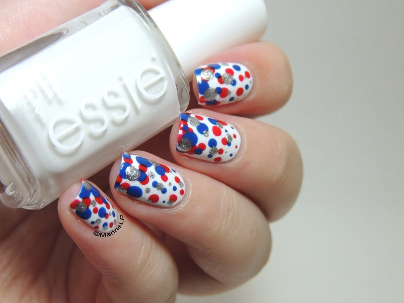 4th of July! nail art by Marine Loves Polish