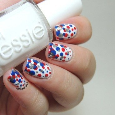 4th of July! nail art by Marine Loves Polish