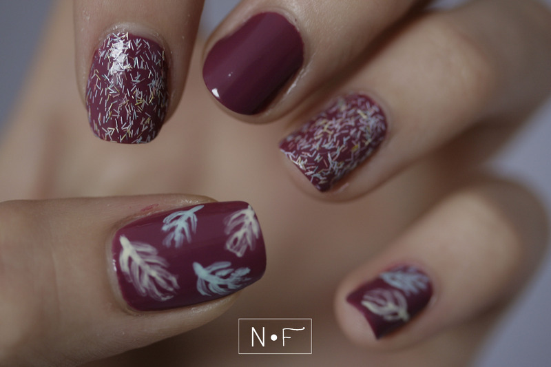 Feather nails nail art by NerdyFleurty