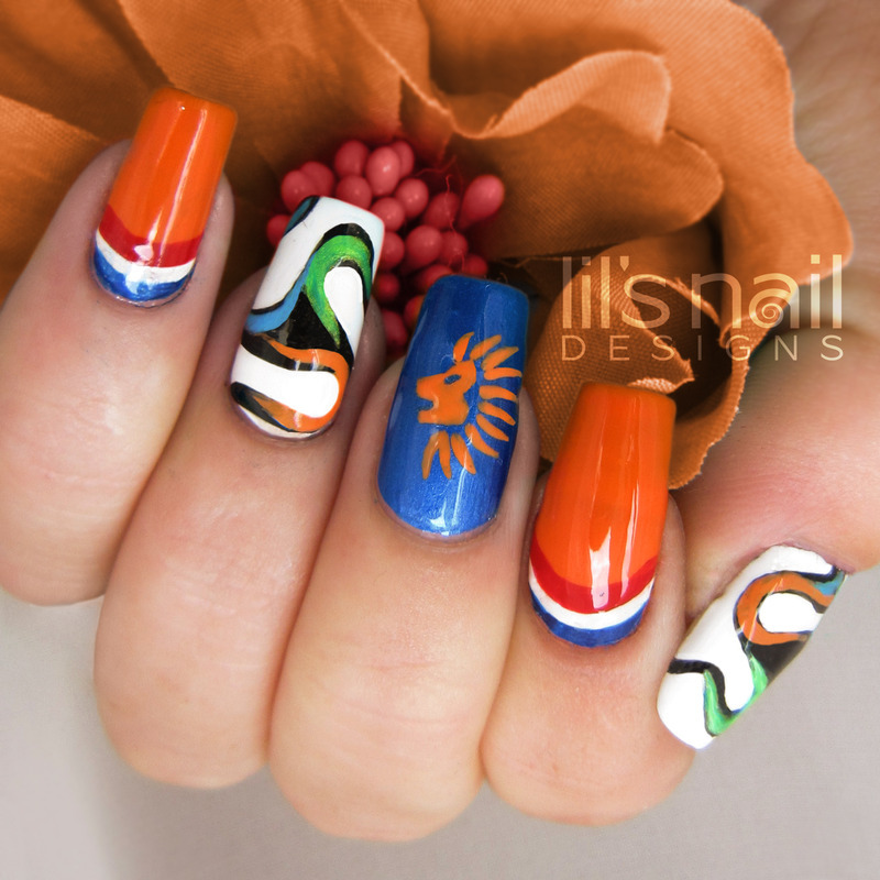 Fifa world cup 2014 for Holland nail art by Lily-Jane Verezen