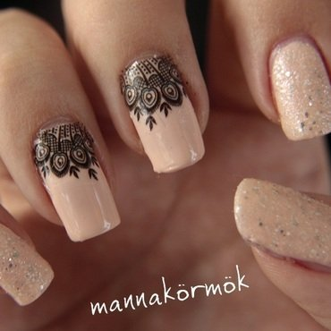 peacock nail nail art by Marianna Kovács
