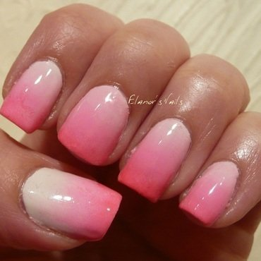 Pink Gradient nail art by Ginger_Elanor