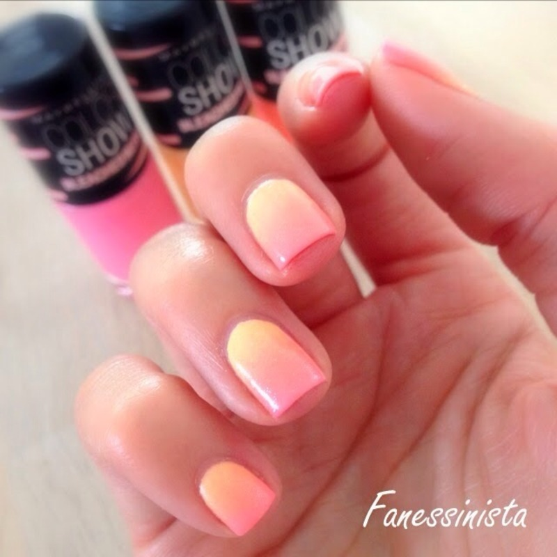 Sunrise Gradient  nail art by Vanessa