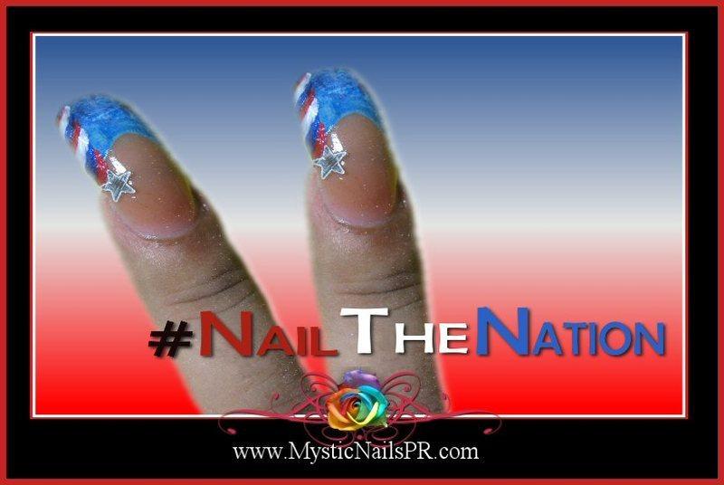 Nail the Nation ♥ by Jennifer Perez nail art by Jennifer Perez ♥ Mystic Nails