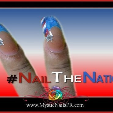 Nail the Nation ♥ by Jennifer Perez nail art by Jennifer Perez ♥ Mystic Nails