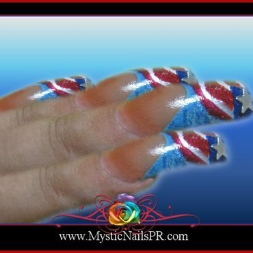 4th of July ♥ by Jennifer Perez nail art by Jennifer Perez ♥ Mystic Nails
