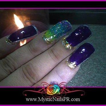 Cosmic Border ♥ by Jennifer Perez nail art by Jennifer Perez ♥ Mystic Nails