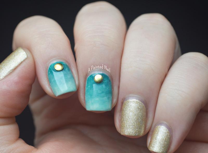 Beachy Water Color Gradient nail art by Bridget Reynolds