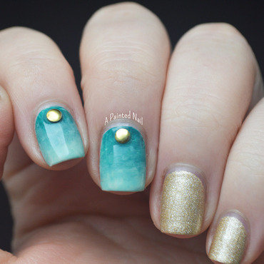 Beachy Water Color Gradient nail art by Bridget Reynolds