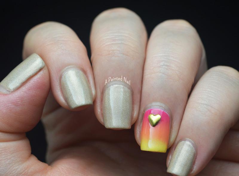 Twinsie Tuesday Summer Lovin' nail art by Bridget Reynolds