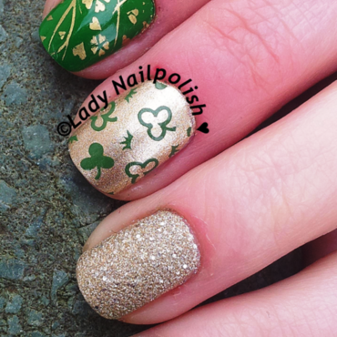 St. Patrick's Day Manicure nail art by Lady Nailpolish Nathalie