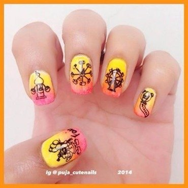Childhood memories nail art by Puja Malhotra