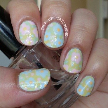 Pastel Themed Floral Nails nail art by Lisa N