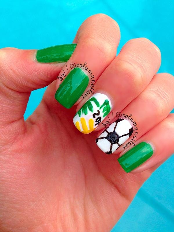World Cup 2014 Nail Art nail art by Carly Morgan