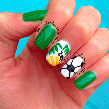 World Cup 2014 Nail Art nail art by Carly Morgan