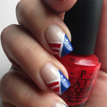 4th of July Nails nail art by Katie