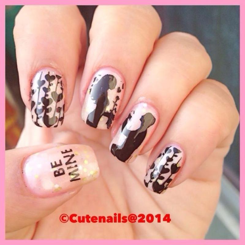 Propose nail art.  nail art by Puja Malhotra