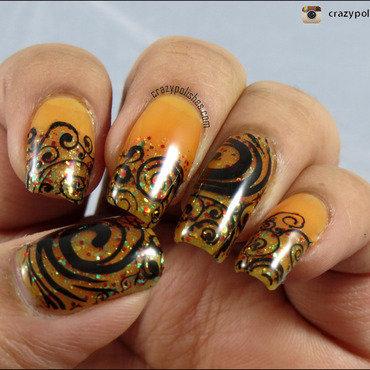 Fairytale Swirls nail art by CrazyPolishes (Dimpal)